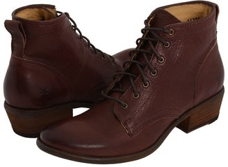 Frye Carson Lace Up (Black Soft Leather) - Footwear