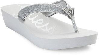 GUESS Women's Shoes, Sidan Thong Sandals