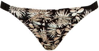 Stella McCartney Black and Gold Vintage Floral Ilda Driving Bikini Briefs