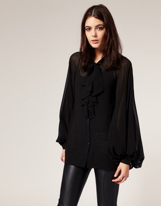 River Island Bell Sleeve Blouse
