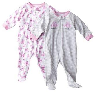 Gerber Newborn 2 Pack Zip Front Sleep N' Play - Turquoise 3-6M