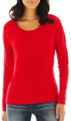 JCPenney a.n.a Cable Sweater - Petite