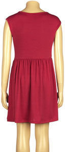 Full Tilt Faux Leather Shoulder Girls Skater Dress