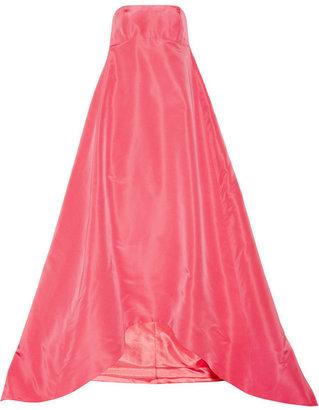 Oscar de la Renta Pleated silk-faille gown