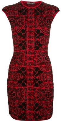 Alexander McQueen patterned bodycon minidress