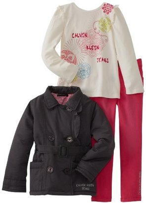 Calvin Klein Girls 2-6X Jacket With Tee And Pink Jean
