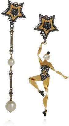 Lanvin Danseuses Swarovski crystal clip earrings