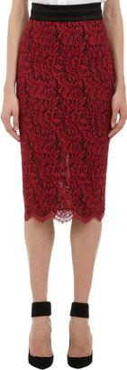 L'Wren Scott Lace Pencil Skirt