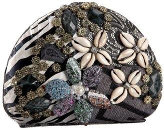 Tianni Prezzo Stone and Shell Round Clutch