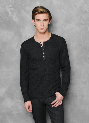 John Varvatos Long Sleeve Burn Out Henley