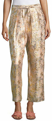 Masscob Metallic Silk-Blend Pants