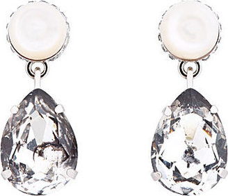 Givenchy Mother-Of-Pearl Cone & Pendant Obsidia Earrings