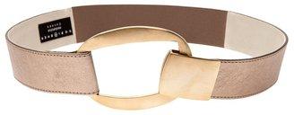 Suzi Roher Leather and metal cutout belt