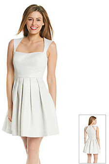 GUESS Fit and Flare Dress with Cutout Back
