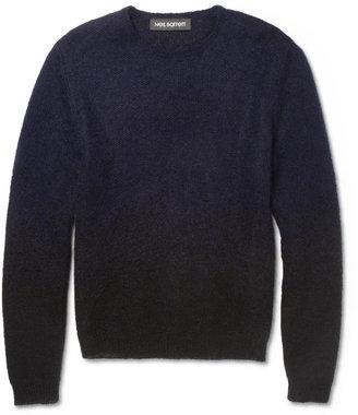 Neil Barrett Dégradé Wool-Blend Sweater