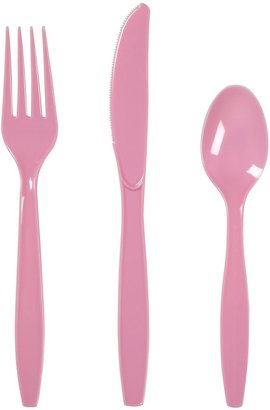 Creative Converting Candy Pink Assorted Plastic Cutlery - 24 ct