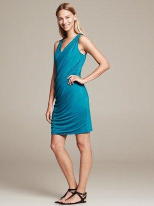 Banana Republic Sleeveless Faux-Wrap Knit Dress