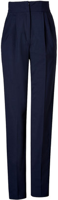 Vionnet High-Waisted Pants in Steel Blue