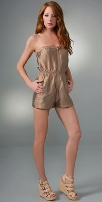Twelfth St. By Cynthia Vincent Zip Front Strapless Romper