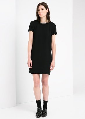 MANGO Crepe Shift Dress