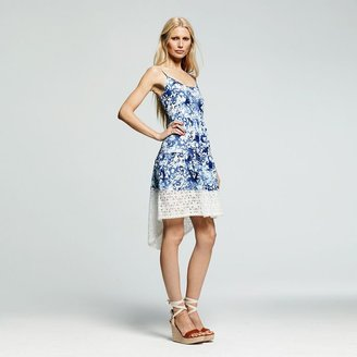 Peter Som for designation hi-low hem splatter dress - women's