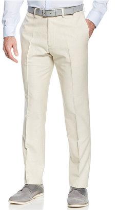 Kenneth Cole Reaction Slim-Fit Linen-Blend Pants