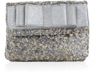 Deux Lux Anais Sequin Clutch Bag with Bow, Mist