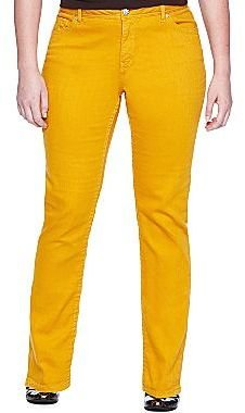 JCPenney a.n.a® Perfect Skinny Colored Jeans- Plus