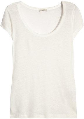 Joie Marion linen-blend T-shirt