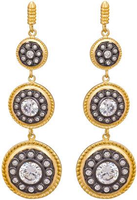 Freida Rothman Triple Disk Drop Earrings