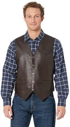 Scully Leather Vest (Brown) Men's Jacket