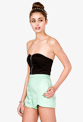 Forever 21 Zippered Bustier