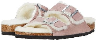 Birkenstock Arizona Shearling (Lavender/Natural Suede/Shearling) Women's Shoes