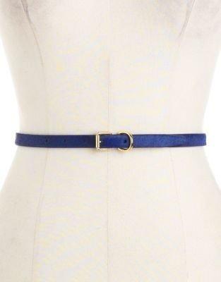 Lauren Ralph Lauren Calf-Hair Skinny Leather Belt