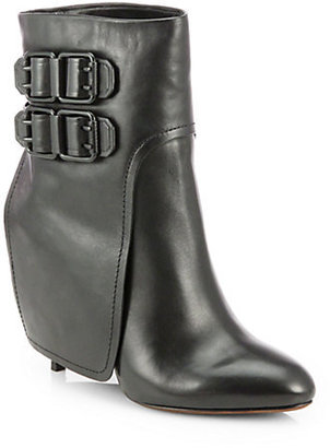 Vera Wang Savona Leather Ankle Boots