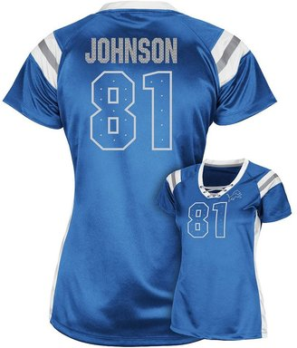 Detroit lions calvin johnson jr. draft him iii tee - women's