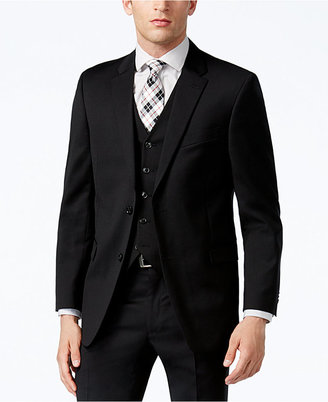 Tommy Hilfiger Black Classic-Fit Jacket $425 thestylecure.com