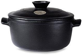 Emile Henry Flame Top 7-Quart Black Covered Casserole