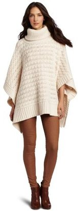 O'Leary Margaret Women's Turtle Neck Poncho Sweater
