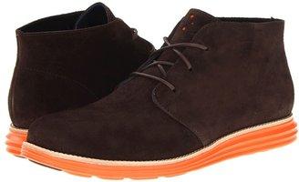 Cole Haan LunarGrand Chukka (Black Suede/Volt) - Footwear