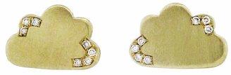 Andrea Fohrman Cloud Stud Earrings with Diamonds - Yellow Gold