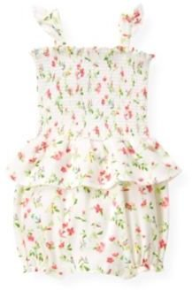 Janie and Jack Smocked Floral Bubble