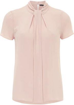 Dorothy Perkins Blush knotted high neck top