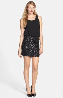 Kensie Chiffon & Sequin Dress