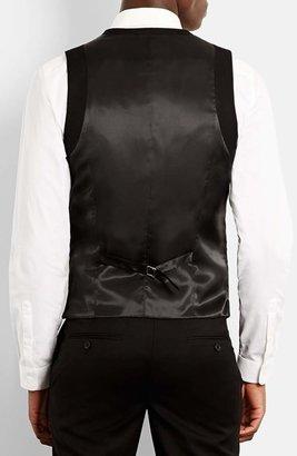 Topman Skinny Fit Black Vest