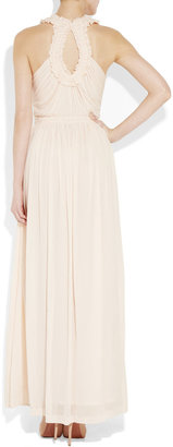 Alexander McQueen Ruched crepe-jersey gown