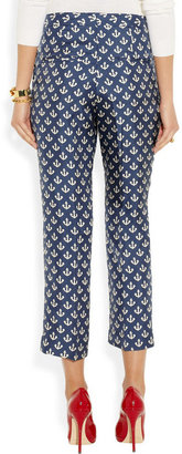 By Malene Birger Gertrudi anchor-print silk-twill pants