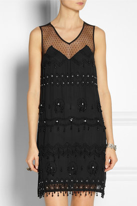 Anna Sui Embellished georgette dress