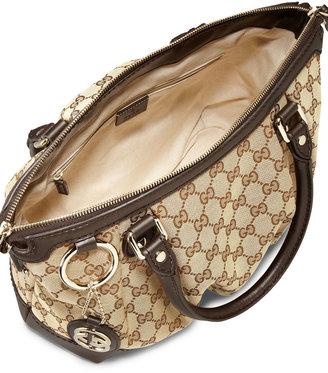 Gucci Sukey Original GG Canvas Top-Handle Bag, Cocoa