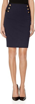 The Limited Buttoned Pencil Skirt